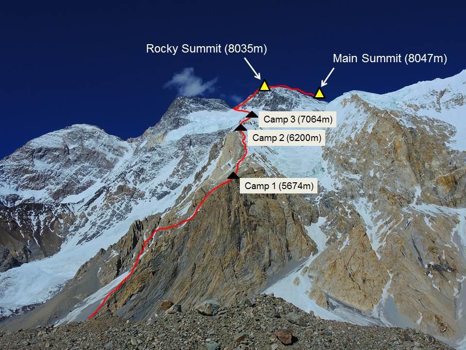 Broad peak route